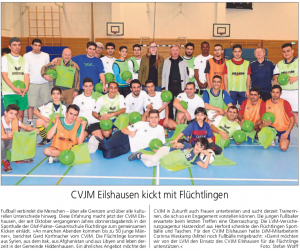 Sport mit Flüchtlingen Kreisblatt